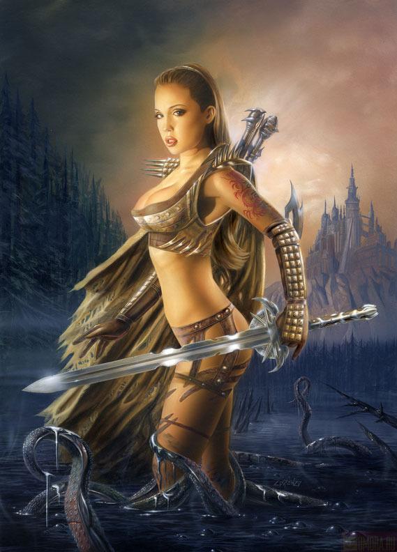 Рисованные девушки воительницы голые148